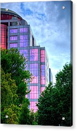 Downtown Reflections 17341 Acrylic Print by Jerry Sodorff