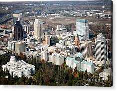 Downtown Sacramento And Capitol Park Acrylic Print by Bill Cobb