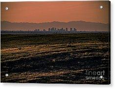 Downtown Sacramento Skyline Acrylic Print by Dan Julien