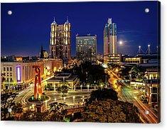 Downtown San Antonio Acrylic Print by John Cabuena  Flipintex Fotod