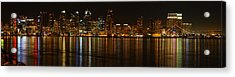 Downtown San Diego At Night From Harbor Drive Acrylic Print