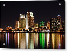 Acrylic Print featuring the digital art Downtown San Diego by Gandz Photography