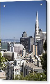 Downtown San Francisco Acrylic Print by Adam Romanowicz