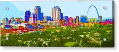Downtown St. Louis From The Southwest Abstract Acrylic Print