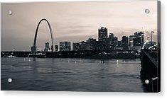 Downtown St. Louis In Twilight Acrylic Print by Scott Rackers
