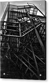 Downtown Stairs Acrylic Print by Kenal Louis