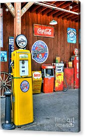 Downtown Sturgis 4 Acrylic Print by Mel Steinhauer