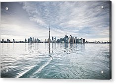 Acrylic Print featuring the photograph Downtown Toronto Skyline From The Ferry by Anthony Rego