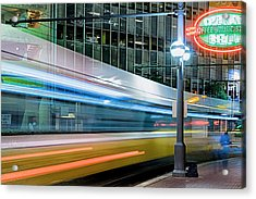 Downtown Train Acrylic Print