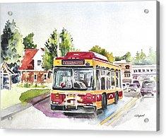 Downtown Trolley Acrylic Print