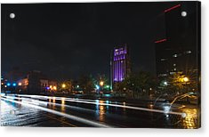 Downtown Tyler Texas At Night Acrylic Print