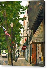 Downtown Usa Acrylic Print by Denise Beverly