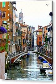 Downtown Venice Acrylic Print by Bishopston Fine Art