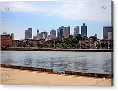 Downtown View In Boston Acrylic Print by Boris Mordukhayev