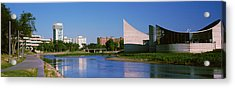 Downtown Wichita Viewed From The Bank Acrylic Print by Panoramic Images