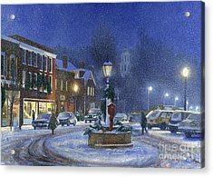 Downtown Woodstock Acrylic Print by Candace Lovely