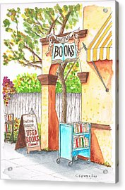 Downtowne Used Books In Riverside, California Acrylic Print by Carlos G Groppa