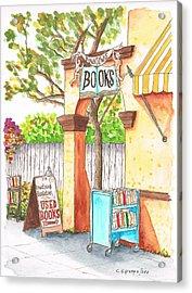 Downtowne Used Books In Riverside, California Acrylic Print