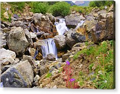Downward Flow Acrylic Print by Mike Schmidt