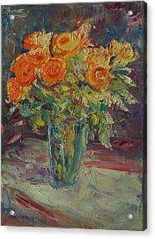 Dozen Orange Roses Acrylic Print