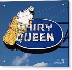 Dq Cone Sign Acrylic Print by Ethna Gillespie