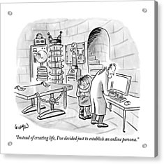 Dr. Frankenstein To His Assistant. His Lab Has No Acrylic Print