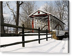 Dr Knisely Covered Bridge Acrylic Print