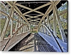 Acrylic Print featuring the photograph Dr. Knisely Covered Bridge by Suzanne Stout