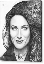 Dr. Lisa Cuddy - House Md Acrylic Print by Olga Shvartsur
