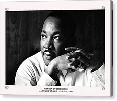 Dr. Martin Luther King Jr. Acrylic Print by David Bearden