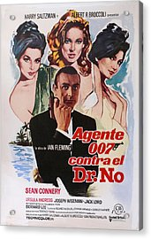 Dr No - Spanish Acrylic Print by Georgia Fowler