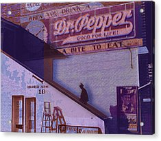 Dr Pepper Blues The Way It Was Acrylic Print by Tony Rubino