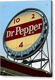 Dr Pepper Acrylic Print by Kara  Stewart