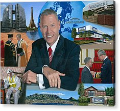 Dr Peter Hindle Mbe Acrylic Print