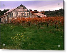 Dr Pierce's Barn Billboard Acrylic Print by Jerry McElroy
