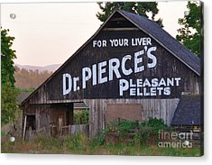 Dr. Pierce's Barn  Acrylic Print by Mindy Bench