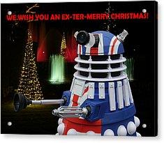 Dr Who - Dalek Christmas Acrylic Print by Richard Reeve