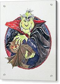 Dracula Acrylic Print by Maylee Christie