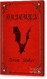 Dracula Book Cover Poster Art 1 Acrylic Print