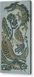 Dragon And Fish Acrylic Print