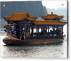 Acrylic Print featuring the photograph Dragon Boat by Kay Gilley