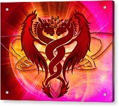 Dragon Duel Series 15 Acrylic Print