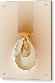 Acrylic Print featuring the digital art Dragon Eggs Pendant by Richard Ortolano