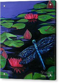 Dragon Fly - Botanical Acrylic Print by Grace Liberator