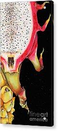 dragon fruit red and yellow -Elena Yakubovich Acrylic Print by Elena Yakubovich