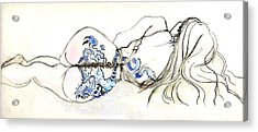 Acrylic Print featuring the painting Dragon Girl by Carolyn Weltman