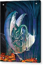 Dragon Lair With Stairs Acrylic Print by The Dragon Chronicles - Robin Ko
