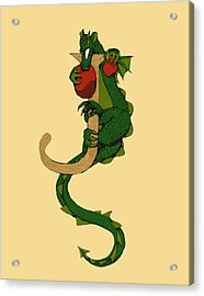 Dragon Letter J Acrylic Print by Donna Huntriss