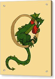 Dragon Letter O Acrylic Print by Donna Huntriss