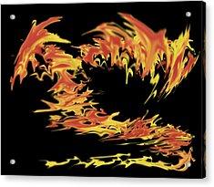 Dragon Acrylic Print by Matthew Angelo